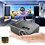 SLB Works Brand New Black 1080P HD LED Home MulitMedia Theater Cinema USB Projector TV VGA SD HDMI