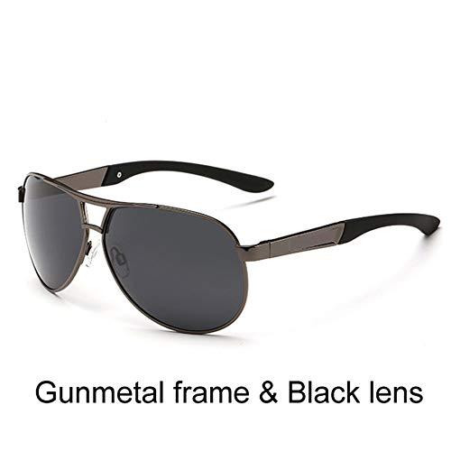 GGreenary Männer Polarisierte Sonnenbrille Polaroid Driving Pilot Sonnenbrille Mann Brillen Sonnenbrille UV400 Hohe Qualität (Lenses Color : C2)