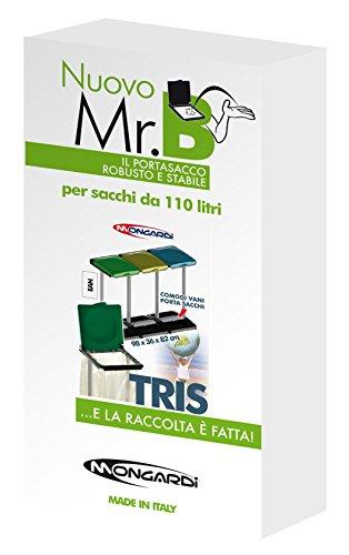 comprare on line Mongardi 7416C99 Mr. B Tris Portasacco Raccolta Differenziata prezzo