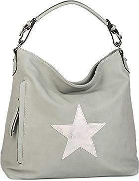 styleBREAKER Shopper Handtasche im Vintage Look mit Stern, Schultertasche, Umhängetasche, Damen 02012076