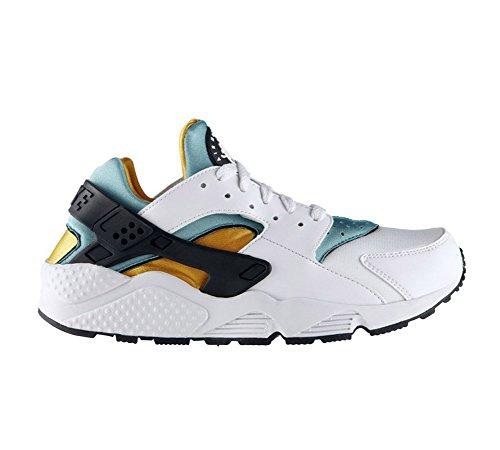 Nike Herren Air Huarache Sneakers White (Black/Orange/Green)