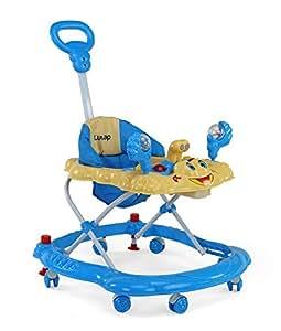 LuvLap Sunshine Baby Walker with Adjustable Height & Stopper - Blue