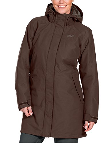 Jack Wolfskin Damen 3-in-1 Mantel Ottawa Coat, Mocca, S, 1100923-5200002 - Peak Mantel Frauen