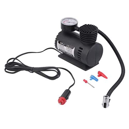 Mazur Mini 12 V Inflator Pumpe Spielzeug Sport Elektrische Pumpe Tragbare Mini Kompakte Kompressor Pumpe Reifen Luftpumpe (schwarz)