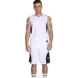 Pantalones cortos de baloncesto masculino y Jersey Uniforme de baloncesto para hombres Ejercicio Correr Pantalones cortos de gimnasia Set Seco rápido Ropa deportiva transpirable Maillots de joueur