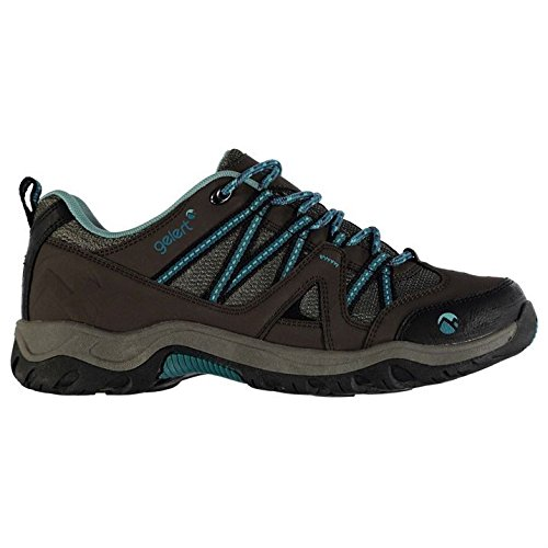 Gelert Womens Ottawa Low Walking Lace Up Padded Ankle Collar Outdoor Shoes Brown/Teal UK 8 (42)