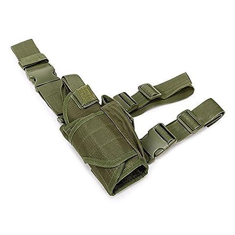 Efanr 1PC Tactical Leg Holster Bag Adjustable Pistol Hand Gun Drop Leg Thigh Holster Harness Magazine Pouch Bundled Sleeve Sets of Waist for Airsoft Paintball Hunting Gun Training (Army