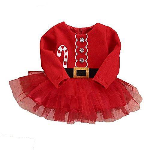 Disfraz de Navidad MEIHAOWEI Vestido Baby Girls Vestido de una pieza 110CM