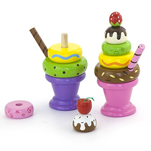Vortigern - V51038 - Set di Due Intercambiabili Impilabili Gelato Sundaes.