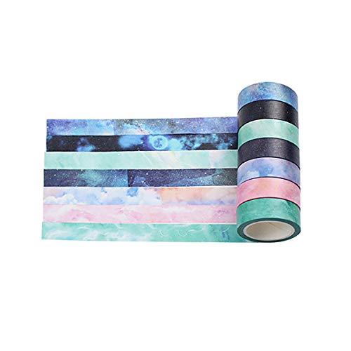 liche Farbe Dekoratives Washi Masking Tape DIY Masking Tape für DIY Handwerk, Kosmetik und Geschenkverpackung, Büro Party Supplies 8 Rolls-4 ()
