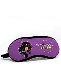 Indigifts Bhabhi Quote Printed Violet Eye Mask (7.8X3.3 inches) - Raksha Bandhan Gift
