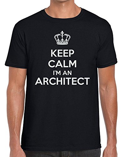 Funky NE Ltd Keep Calm I'm an Architect - Carry On - Tshirt - 100% Cotton - Small to XXL - 15 Colours - Great Gift Idea by