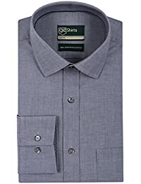 [Sponsored]GE Shirts Men's 100% Egyptian Giza Cotton Business Formal Relaxed Slim Fit Grey Shirt With Complementary Magnetic...