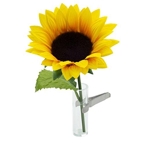 Sandini Autovase für künstliche Blume, eine kultige Dekoration für den Innenraum, große Auswahl, inkl. Beutel mit Organza,kann auch für eine natürliche Blume verwendet werden, geeignet für jedes Fahrzeug, das beste Geschenk für Valentinstag, Muttertag, Geburtstag, Abschluss usw. Sonnenblume