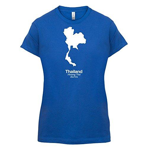 Thailand / Königreich Thailand Silhouette - Damen T-Shirt - 14 Farben Royalblau
