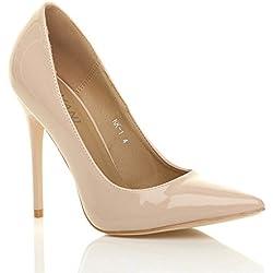 Donna tacco alto lavoro festa elegante scarpe décolleté a punta taglia 6 39