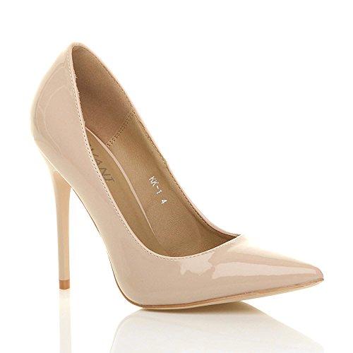 Ajvani donna tacco alto lavoro festa elegante scarpe décolleté a punta numero 4 37