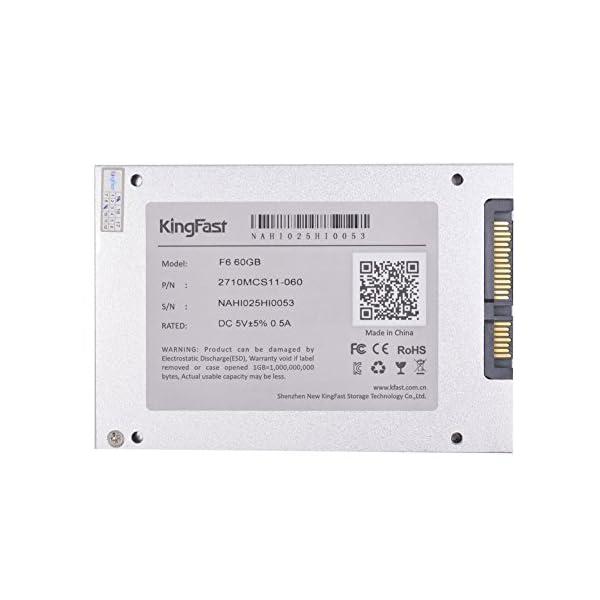 KingFast 2710MCJ15-60 Flash Disco duro s/ólido interno SSD de 60GB Serial ATA III, 2.5 6Gb//s