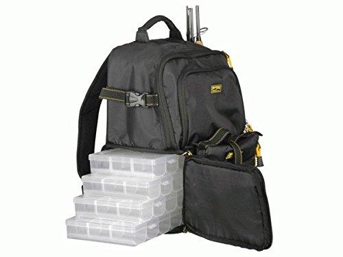 Spro Back Pack - Angelrucksack mit Boxen & Rig Wallet für Kunstköder, Rucksack für Spinnangler, Angeltasche für Gummifische & Jigs