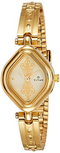 Titan Women's Analog White Dial Watch