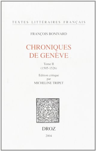 Chronique de Genève. : 2, 1505-1526 par François Bonivard