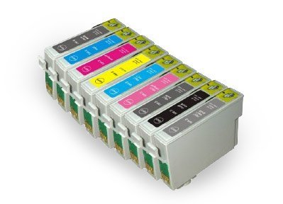 Prestige Cartridge Tintenpatrone T0591-9 passend zu Drucker Epson Photo R2400, 10-er Pack, farbig sortiert - Photo R2400 Matte