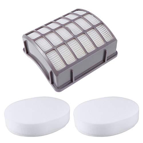 UKCOCO Schaumstoff- und Filzfiltersatz HEPA-Filter Filzschaum Vakuumfilter Ersatzsatz Kompatibel mit Shark NV60 NV70 NV71 NV80 NV90 NV90 NV90 UV40
