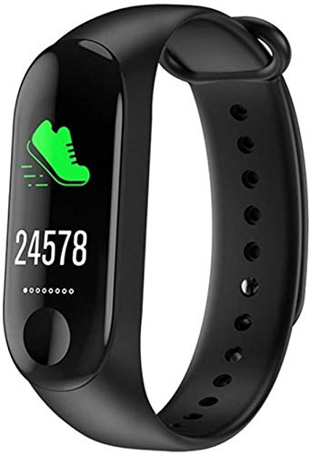 VEBREL Smart Upgraded Advanced Waterproof M 3rd Generation Live Activity Fitness Blood Pressure Monitor Heart Rate Steps Counter Calorie Counter Health Tracker Watch with Touch Sensor OLED Screen