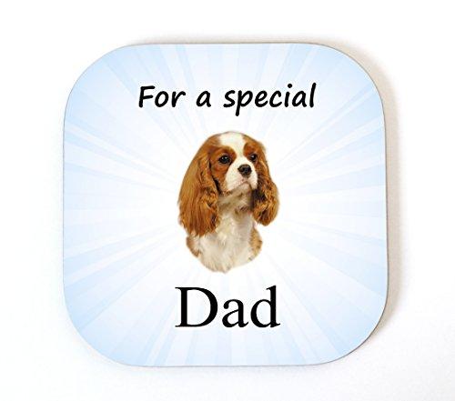 Cavalier King Charles Spaniel (Blenheim) 'für eine Special Dad' Untersetzer Drink Matte Fun Neuheit Geschenk -