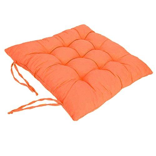 Cojines de Asiento Cojín Amortiguador de Sillas Comedor Al Aire Libre Jardín Muebles Decoración - Naranja