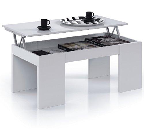 tv lift cabinet flores lift up blanco brillante mesa de caf