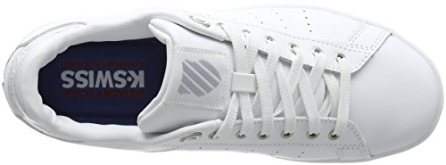 K-Swiss Damen Clean Court CMF Sneaker Weiß (white/gray marble)