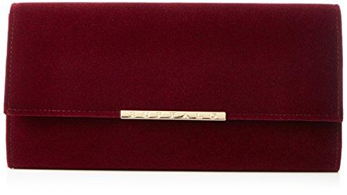 Buffalo Damen Bag Bwg-05 Velvet Clutches, 25x13x4 cm Rot (BURGUNDY 01)