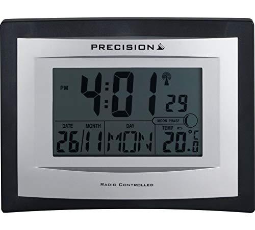 Precision LCD Radio Kontrollierte Wand Schreibtisch Uhr, Tag, Alarm, Temperatur Untergang Display AP046
