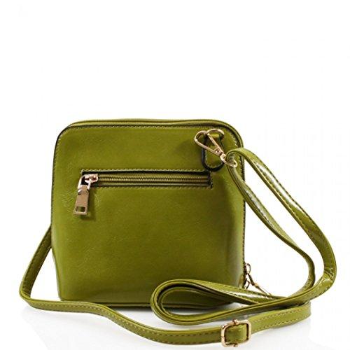 LeahWard Faux Leder Kreuz Körper Handtaschen Umhängetasche für Frauen Across Body Taschen CW16 (Schwarz Kleine Tasche) Braun Kleine Tasche