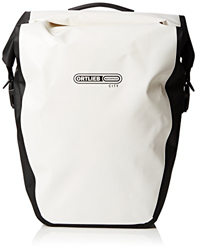 Ortlieb - Cesta para Bicicletas de Ciclismo, tamaño 42x23 / 32x17, Color Blanco/Negro