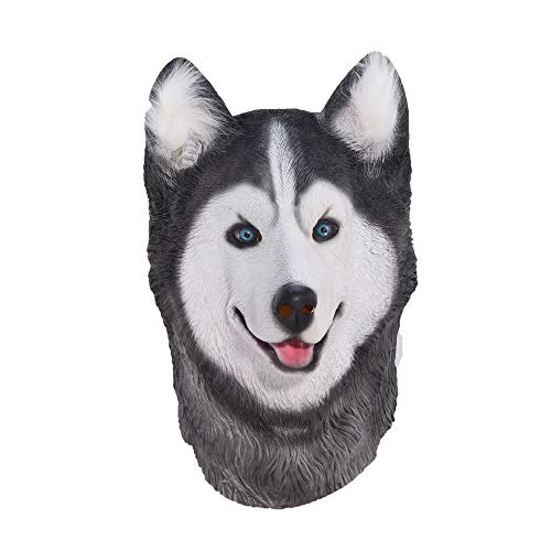 Zorux – Halloween Sibirischer Husky Hund Latex Maske Neuheit Kostüm Party Kostüm ()