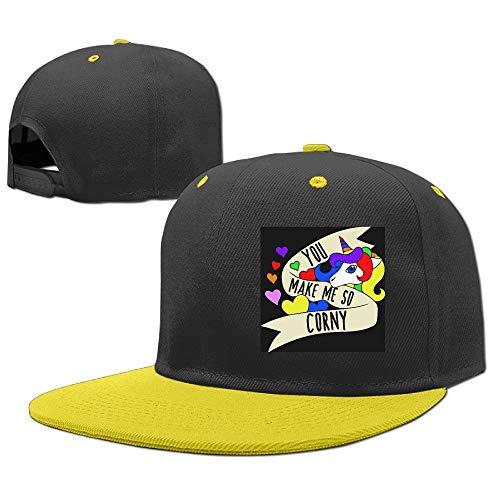 Preisvergleich Produktbild Kids You Make Me So Corny Adjustable Hip Hop Baseball Hat Custom Cap for Children