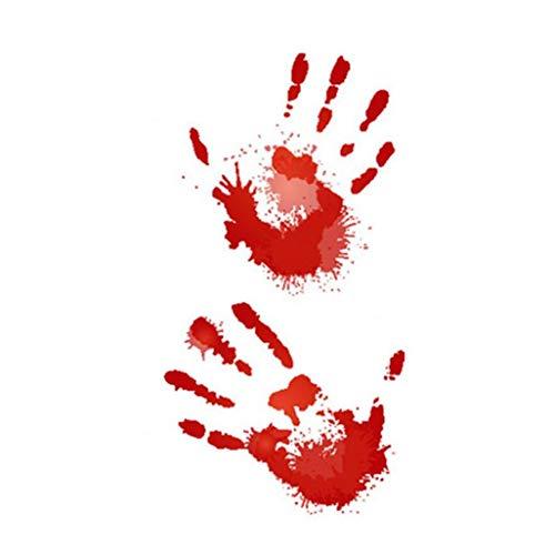 Lieferungen Halloween Scary Thema Wasserdicht Temporäre Tätowierung-Aufkleber Halloween-Zombie Make-Up Tattoos Von Echten Realistische Fake Blood Scars RC-601 ()