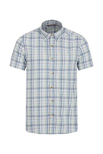 Das perfekte Hemd zum Reisen, das Weekender Herren Shirt ein lässiges Hemd, ideal für Camping Ausflüge oder bei feuchtem Klima. Mit einfachen, Kurzarm-Design aus 100% Baumwolle, ist das Kleidungsstück leicht und atmungsaktiv, so dass es eine Freude i...