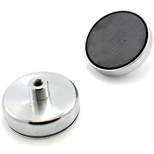 Magnet Expert® 80mm Durchmesser X 32mm Hoch X M10Gewinde Ferrit Pot Magnet–60kg Ziehen (1Stück)