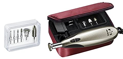 Beurer MP 60 elektrisches Maniküre-/ Pediküre-Set, mit 10 Nagelpflege-Aufsätzen und Aufbewahrungstasche