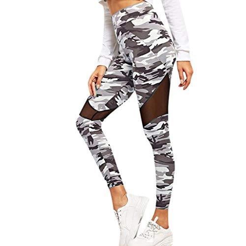 Classics Damen Camo Tech Mesh Sport Leggings,Streetwear und Fitnesshose mit halbtransparenten Einsätzen,Jogginghose,Fitness Leggings,Yogahose URIBAKY