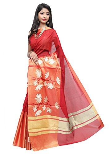 Asavari Maroon & Gold Tissue - Floral Work Saree