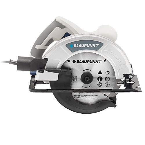 Blaupunkt Sierra Eléctrica Circular 1400W - Hoja 185mm-Configuraciones ajustables de Profundidad y Ángulo