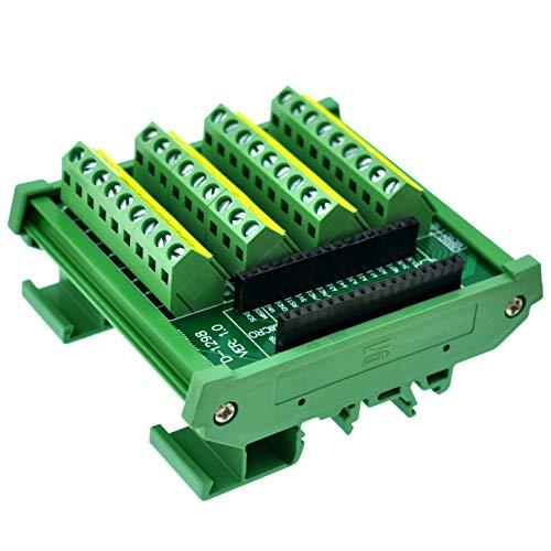Breakout-modul (CZH-LABS DIN-Schienenmontage Schraubklemmenblock Breakout Modul Board für Arduino Nano/Micro.)