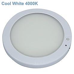 Facon 12.7cm 12V LED RV pannello a soffitto a cupola lampada con interruttore per RV Motorhome Camper Caravan Marine Interior Light (luce bianca fredda 4000K)