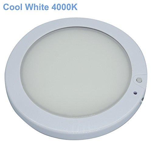 Facon 12.7cm Luz del Panel LED de 12V Luz Interior del techo de la pared del techo con atenuador e indicador de encendido / apagado para RV, Autocaravana, Caravana, Barco, Remolque, Marino