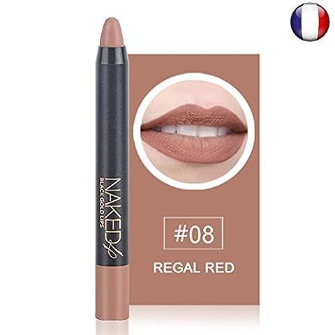 Rouge à lèvres Marron beige nude mat waterproof longue durée effet velour