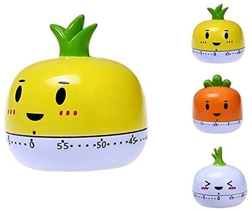 Küchenuhr, 55Minuten, süße Gemüse- und Obst-Designs gelb (Küchen-timer Obst)